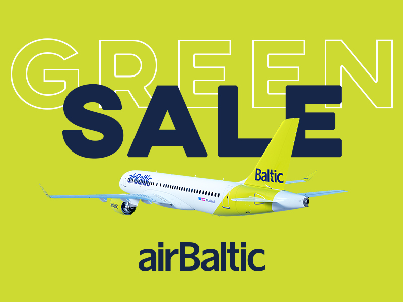 GREEN SALE no airBaltic